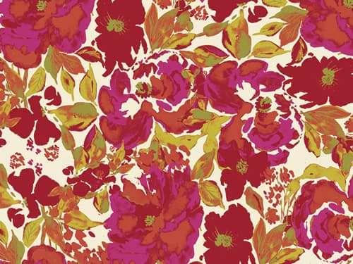 Baumwolle Stoff - 365 Fifth Avenue - Dressing Room Rouge