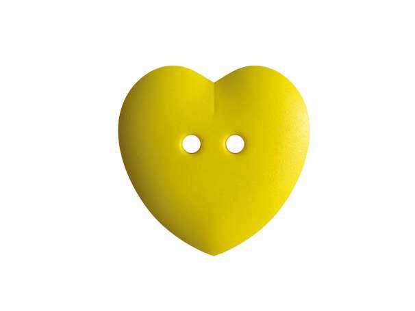 Knopf Herz 15mm - gelb
