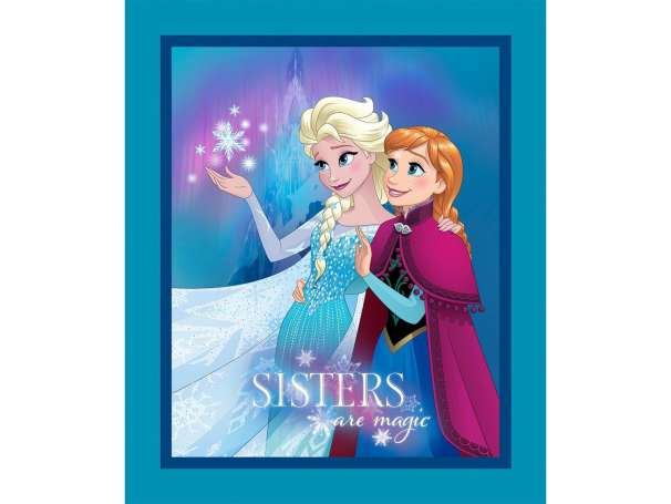 Baumwolle Stoff - PANEL - Frozen: Sisters are Magic