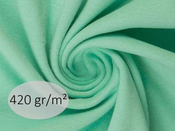 Bündchenstoff - ANTJE 420 gr. - hellmint