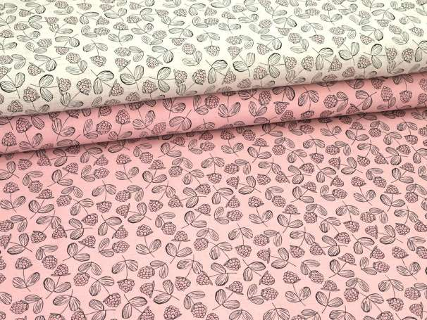 Viskose Leinen Stoff - Raspberry - verschiedene Farben