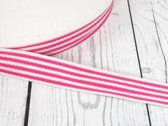 Gurtband - 35 mm - Streifen, creme-pink