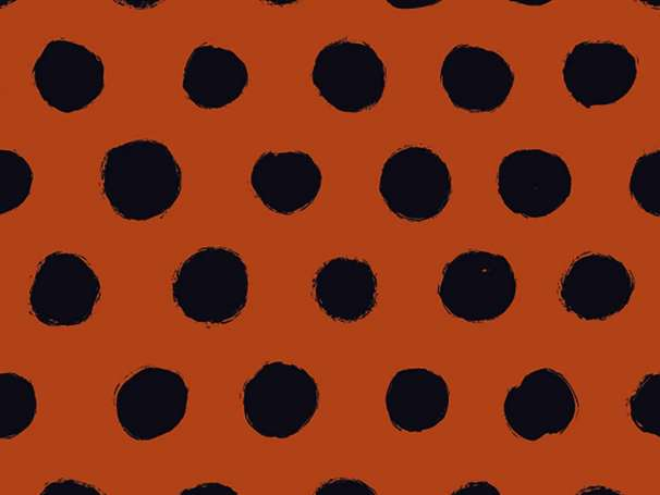 Jersey Stoff - Big Dots - terracotta