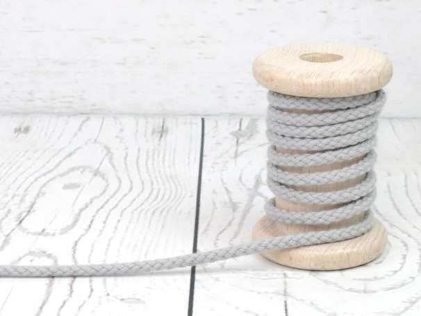 Kordel Baumwolle - 5 mm - hellgrau