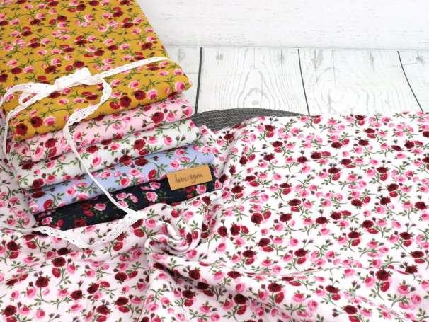Musselin - Kleine Rosen, verschiedene Farben