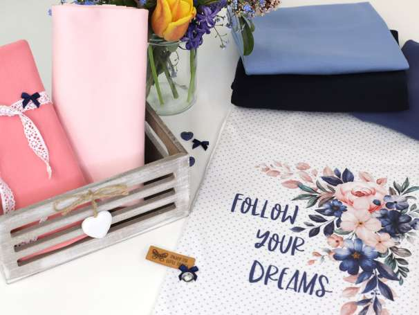 Jersey Stoff - PANEL - Follow Your Dreams