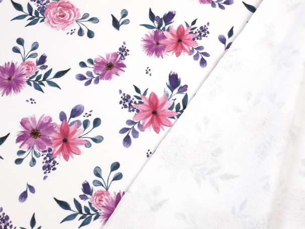 French Terry - Watercolor Flowers