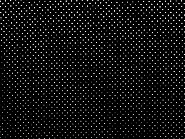 BAUMWOLLE Stoff - Pünktchen - schwarz,weiß