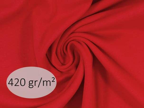 Bündchenstoff - ANTJE 420 gr. - rot