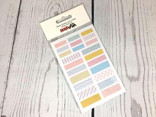 Sticker Streifen - bunt - 2 Blatt