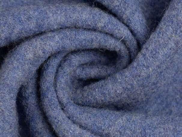 Wollstoff - Walk - blau melange