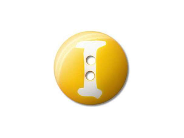 Buchstaben Knopf - Ø 20 mm - I