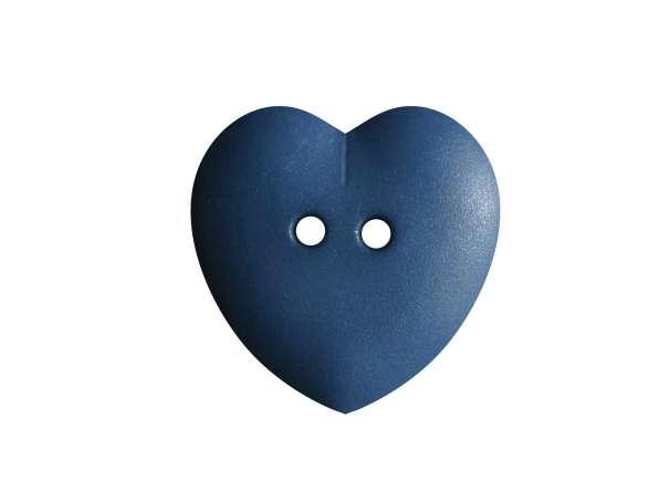 Knopf Herz 15mm - jeansblau