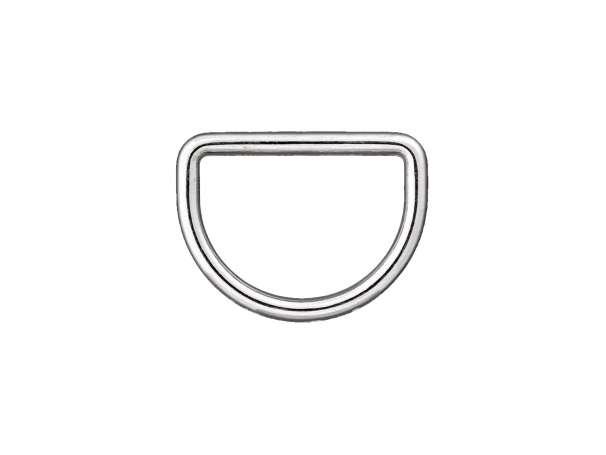 1 D-Ring - 25 mm - silber