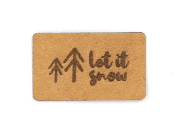 SnaPpap Label - Tannenbäume, let it snow