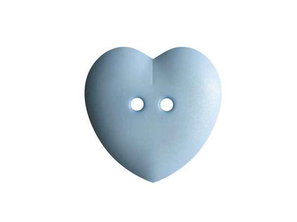 Knopf Herz 15mm - hellblau