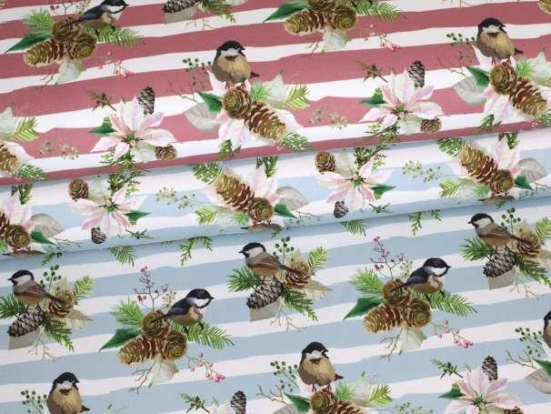 French Terry - Wintervogel - verschiedene Farben
