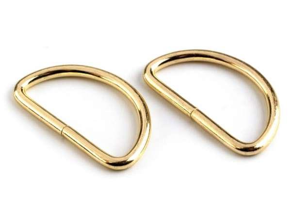 4 D-Ringe - 25 mm - gold