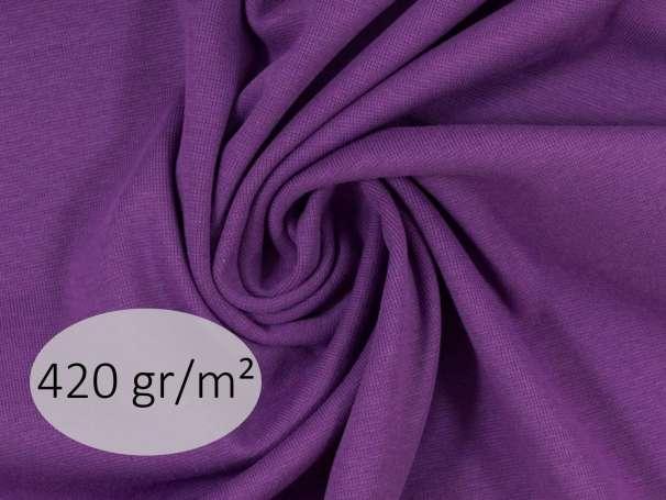 Bündchenstoff - ANTJE 420 gr. - lila