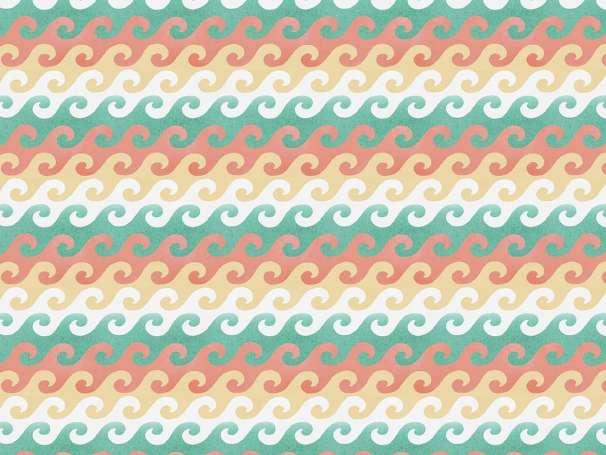 Baumwolle Stoff - Beach Travel - Waves