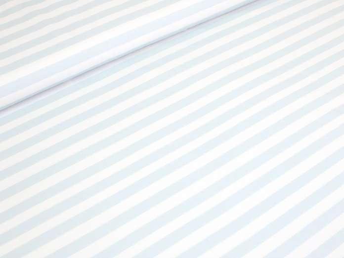 Jersey Stoff - Anchor & Stripes - Blockstreifen hellblau/weiß