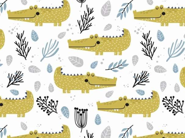 Jersey Stoff - Wild Life - Krokodil