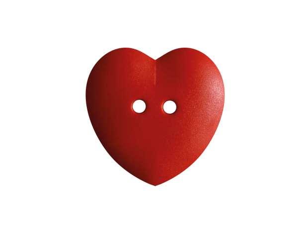 Knopf Herz 15mm - rot