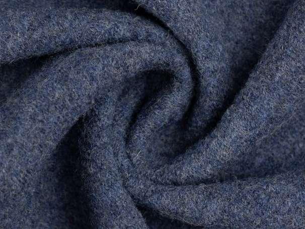 Wollstoff - Walk - jeansblau melange