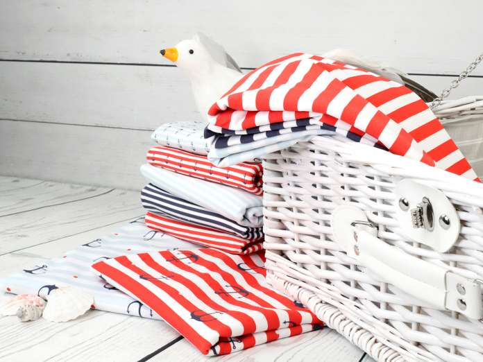 Jersey Stoff - Anchor & Stripes