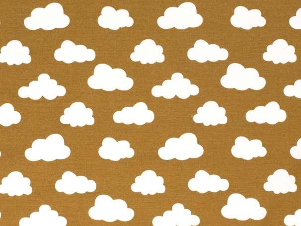 Canvas - Wolken - ocker