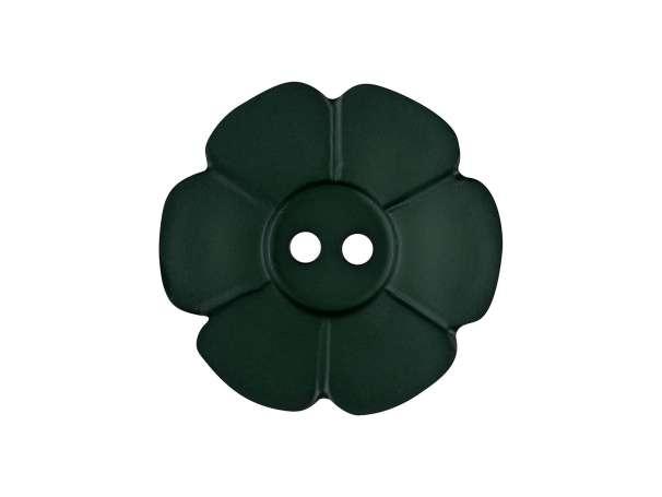 Knopf Blümchen 15mm - dunkelgrün
