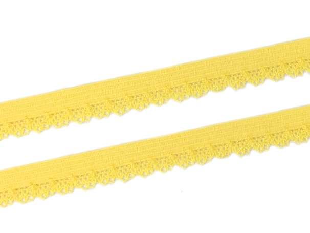 Elastische Spitze Bogenkante - gelb