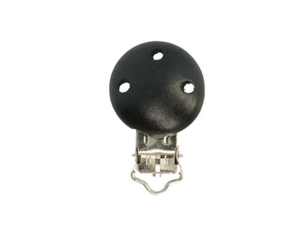 Schnuller-Ketten Clip - klein - schwarz