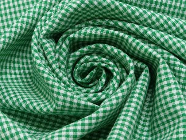 Baumwolle Stoff grasgrün/weiß - Klein Kariert