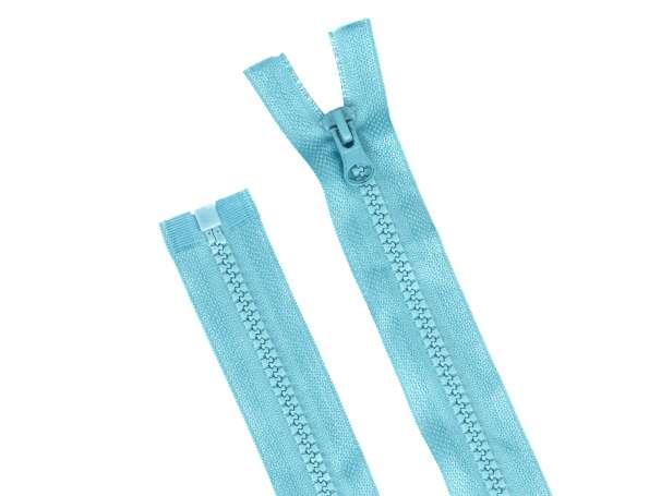 Teilbarer Reißverschluss - 30 cm - helltürkis