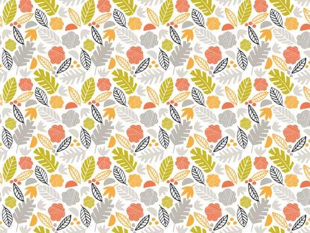 Baumwolle Stoff - Palm Leaves Grey