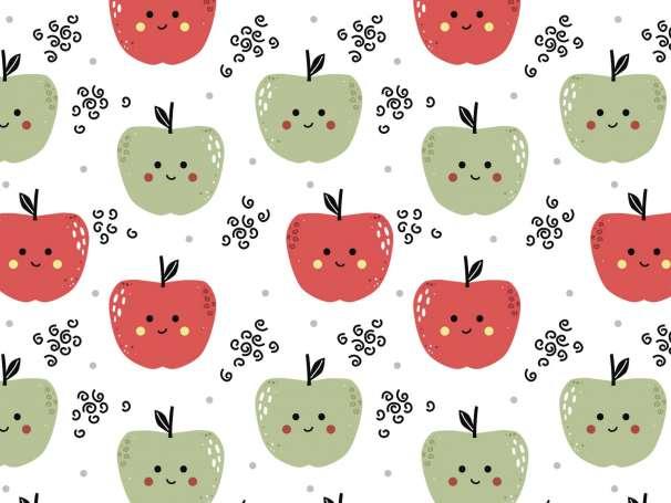 Jersey Stoff - Freche Früchtchen - Apfel