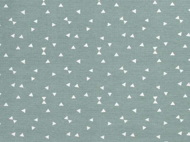 Canvas - Dreiecke - dunkles mint