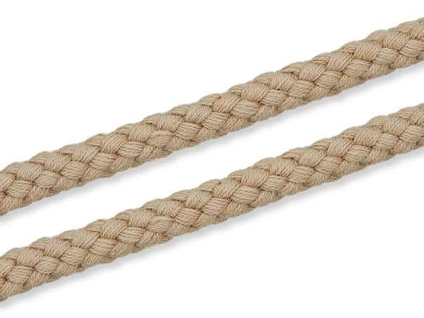Kordel Baumwolle - 8 mm - beige