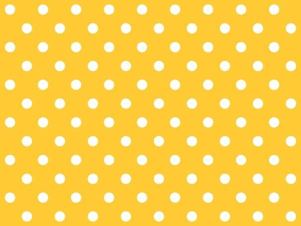 BAUMWOLLE Stoff - Punkte - gelb,weiß