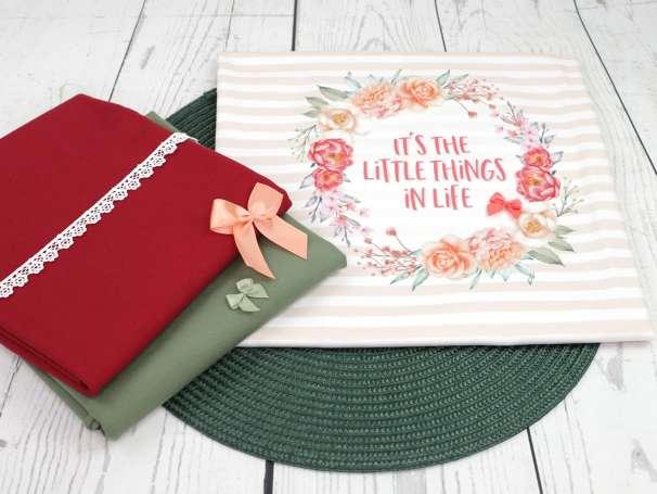 Jersey Stoff - PANEL - It's the little things in Life - Deko