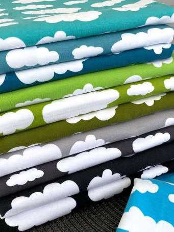 Jersey Stoff - Wolken - verschiedene Farben
