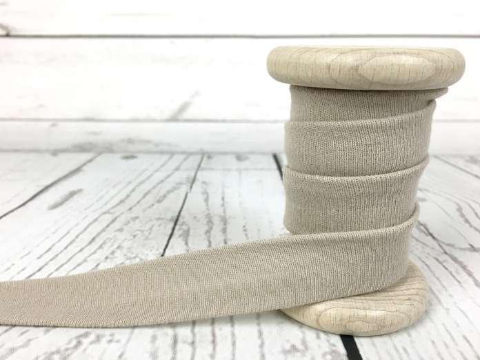 Elastisches Jersey Schrägband - beige