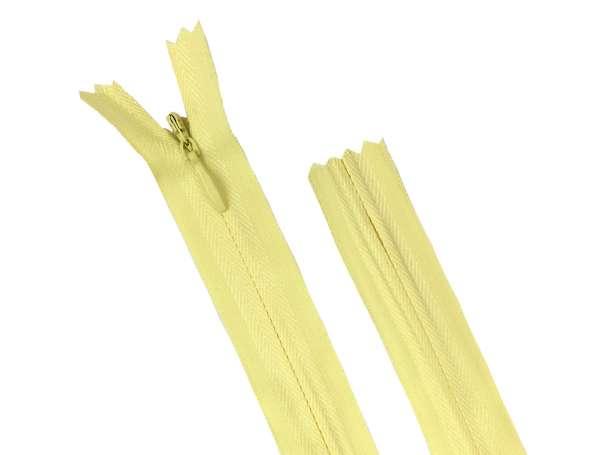 Reißverschluss - 35 cm nahtverdeckt - zitronengelb