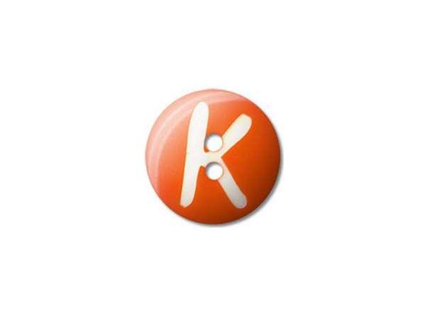 Buchstaben Knopf - Ø 15 mm - K