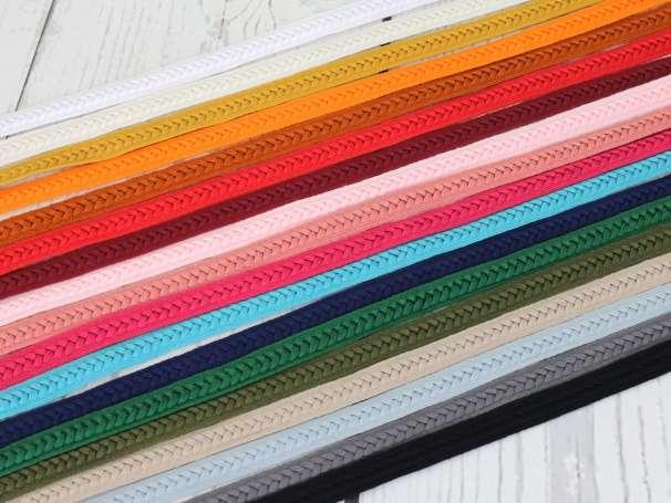 Flachkordel Zopf - 12 mm - verschiedene Farben
