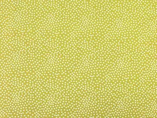 French Terry - Tiny Dots - gelbgrün