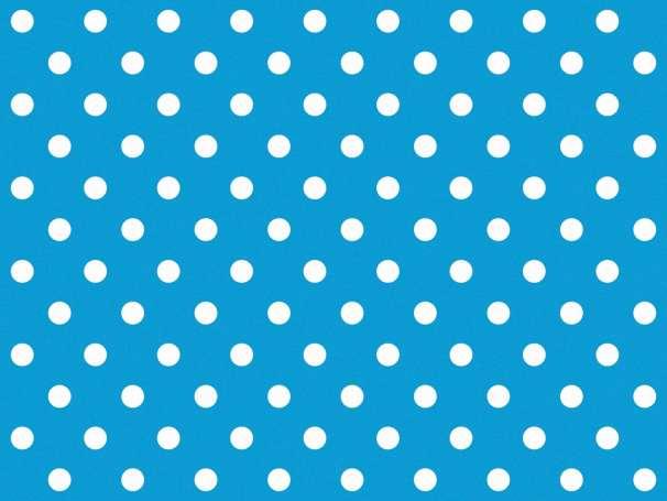 BAUMWOLLE Stoff - Punkte - türkis,weiß