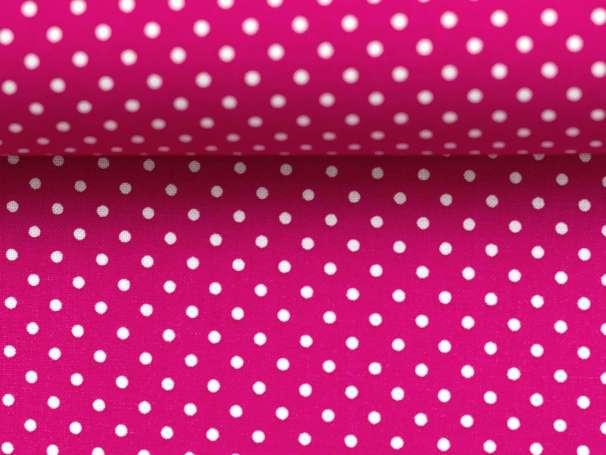 BAUMWOLLE Stoff - Pünktchen - pink,weiß