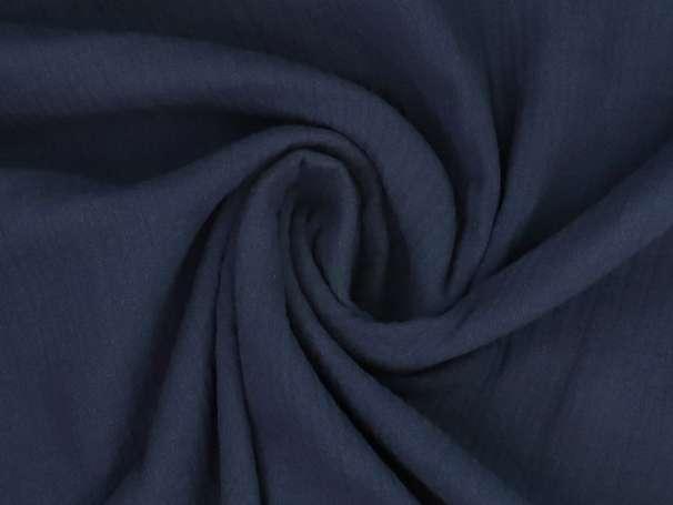 Musselin Stoff - Uni - dunkelblau